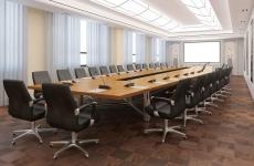 Eleganter leerer Konferenzraum für Tagung