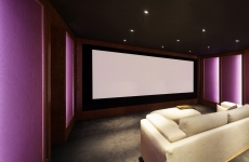 Home theater, luxury interior